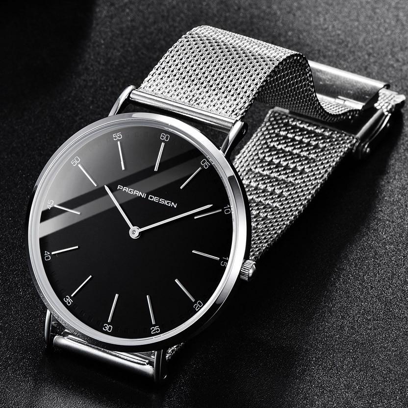PAGANI DESIGN Ultra Thin Quartz Watch Men Women Luxury Brand Waterproof Stainless Steel Business Wrist Watch For Men Relogio