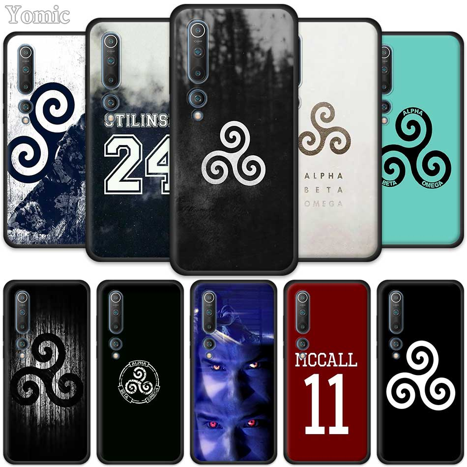 Silicone Phone Cases For Xiaomi Mi Note 10 9 SE 9T CC9 Pro 5G A3 A2 8 Lite Poco X2 Soft TPU Black Cover Bumper Teen Wolf