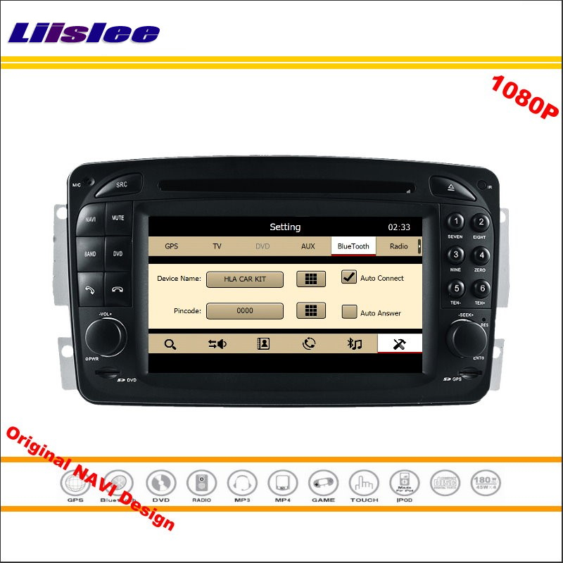 Liislee For <font><b>Mercedes</b></font> Benz CLK C208 <font><b>W208</b></font> 1996~2008 <font><b>Car</b></font> <font><b>Radio</b></font> DVD Player <font><b>GPS</b></font> Navigation 1080P HD <font><b>Screen</b></font> System Original <font><b>With</b></font> Aux image