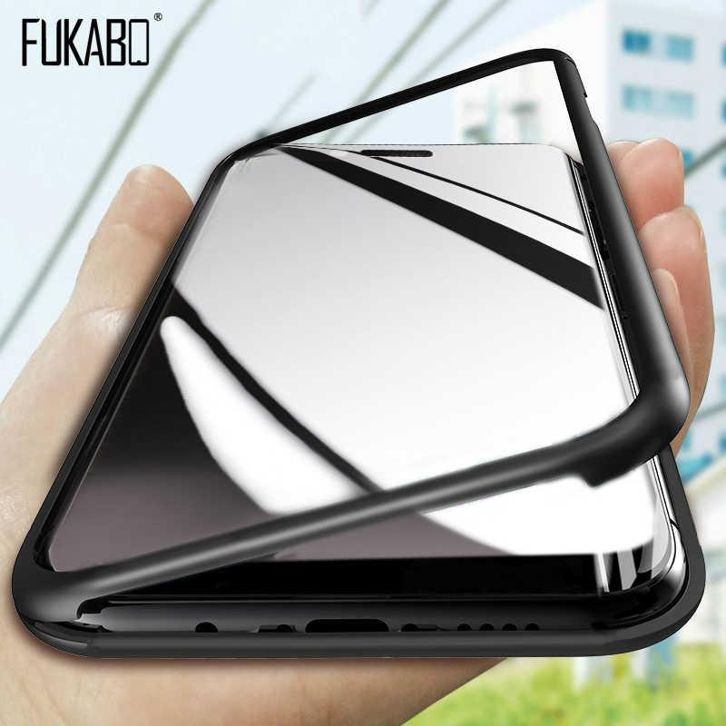 Funda completa curvada de lujo 360 para iPhone 11 Pro Max funda protectora para iPhone XR XS Max X 11 6 6s 7 8 Plus funda de vidrio a prueba de golpes