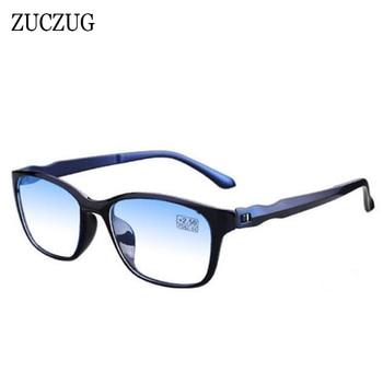 ZUCZUG TR90 gafas de lectura ultraligeras para hombres y mujeres, gafas antifatiga para ordenador, gafas de presbicia contra rayos azules + 1,0 + 4,0