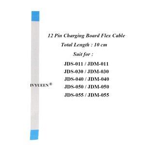 Image 2 - 6ソニーのデュアルショック4 PS4プロスリムコントローラ12 14ピン充電ボードの電源スイッチケーブル10pinタッチパッドフレックスリボンケーブル