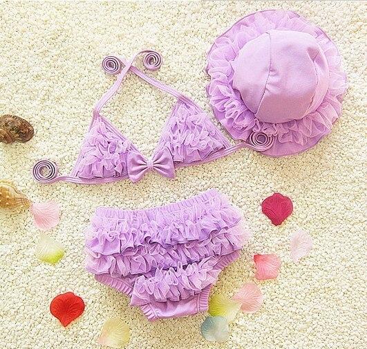 Children Girls Swimwear Cute Small CHILDREN'S Baby Girls' Swimsuit Infants Halter Bikini Swimwear