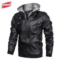 New Vintage Retro Motorcycle Jackets Mens Slim Male Punk Classic Biker PU Faux Leather Coat Moto Jacket Winter Motorbiker Jacket