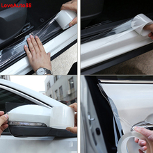 For SEAT LEON ARONA ATECA IBIZA FR Car Door Edge Guards Anti collision Door Strip Bumper Protector Crash Anti rub Protection