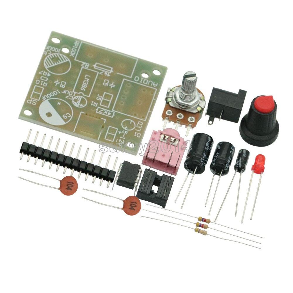 DIY Kit LM386 Super Mini Audio Amplifier DIY Kit Suite Trousse LM386 Amplificador Module Board 3.5mm 3-12V