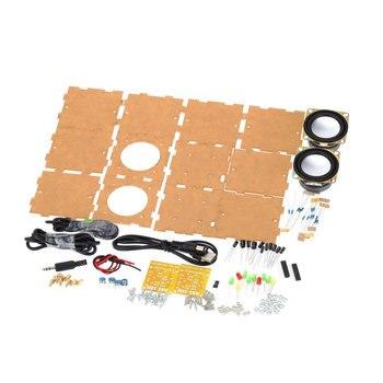 2 Pièces/ensemble Amplificateur De Musique Mini Haut-parleur Kit De Bricolage Non Assemblé Boîte Ordinateur Maison Pour Cadeau Drôle électronique Transparent Musique