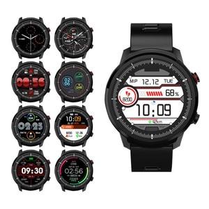 Image 2 - الرجال ساعة ذكية L5 S10 زائد L3 IP67 مقاوم للماء شاشة تعمل باللمس كامل طويل الاستعداد Smartwatch معدل ضربات القلب الطقس PK الشرف