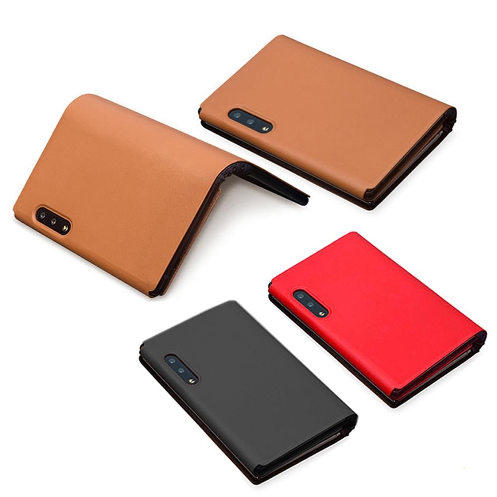 Étui de protection de téléphone pour FlexPai écran pliant téléphone portable résistant aux rayures véritable PU étui en cuir coque de couverture pour FlexPai
