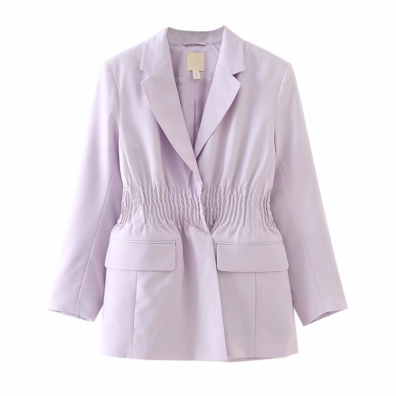 2020 New Spring Autumn Women Purple Blazer Jacket Solid Elegant Slim Office Lady Suit Coat Mujer
