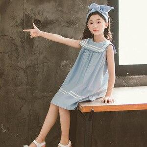 Image 4 - 新 2020 ガールプレッピースタイルのセーラー襟プリンセスドレス幼児レジャーベストドレス素敵な、 #5157