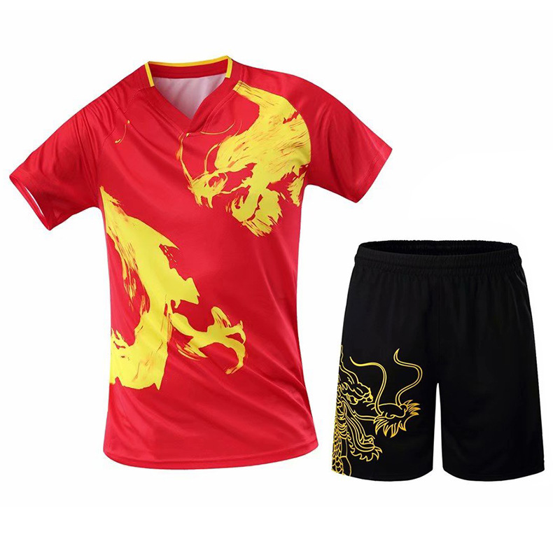 Table-Tennis-Suit-Set Badminton-Shirt Men For Quick-Drying Sports And Running-Training-Jerseys