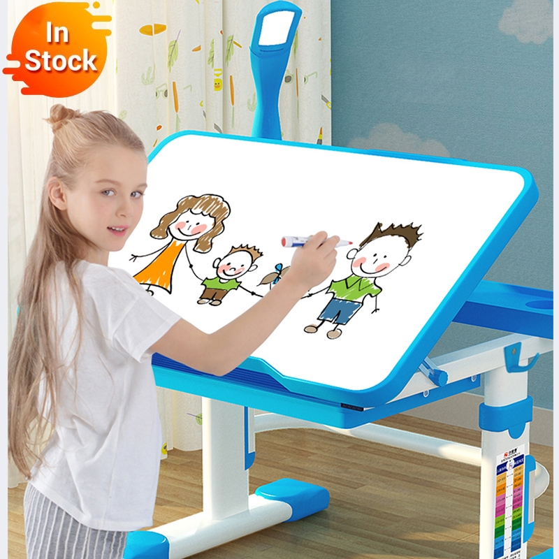 2020 다기능 어린이 학습 테이블 어린이 숙제 책상 인체 공학적 학생 조절 식 책상과 의자 조합 데스크탑 ang