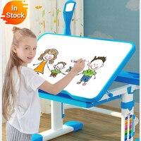 2020 wielofunkcyjny stół do nauki dla dzieci biurko do pracy domowej ergonomiczne regulowane biurko dla studentów i krzesło połączenie pulpitu ang w Stoliki dla dzieci od Meble na