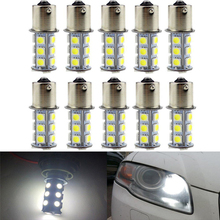 6PCs 5050 1156 BA15S 18SMD White LED Bulb Lamp P21w R5W R10W 1157 Led Car Bulbs Turn Signal Reverse Lights Light Tail Parking