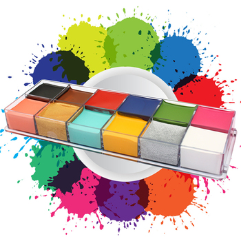 12 Colors Non Toxic Face Body Art Painting Oil Tattoo Makeup Cosmetic Drama Clown Halloween Party