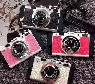 Kamera Form XR Weibliche Hängen Seil Verhindern Herbst 8plus 7p TPU Zurück Abdeckung für IPhone X XS Max handy Fall 6s