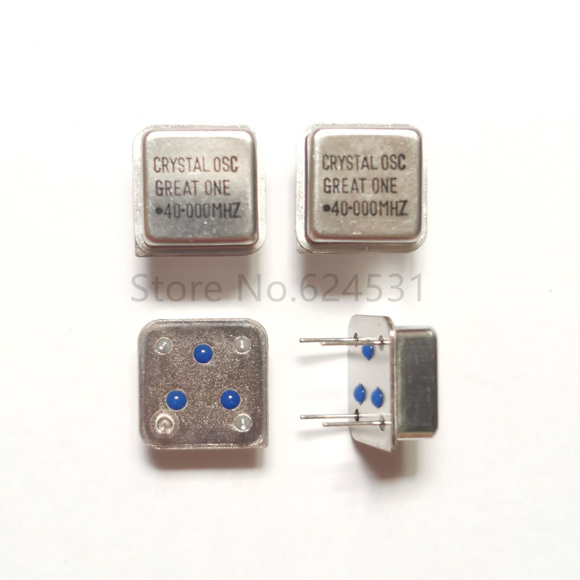 10pcs In-line Active Crystal Oscillator Clock Square Half Size DIP-4 OSC 40M 40.000MHZ