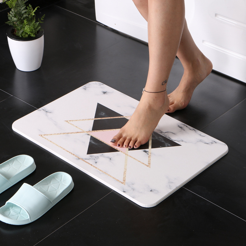Diatomaceous Earth Foot Mat Durable Fast Drying Absorbent Bathroom Rug Mats Anti-slip Diatom Mud Floor Shower Bath Mat Carpet