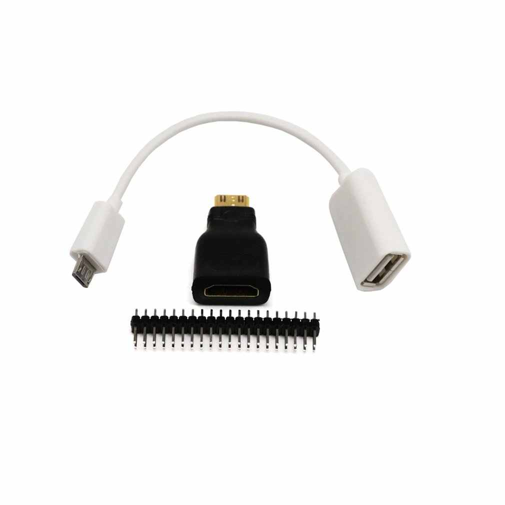3In1 untuk Raspberry Pi Nol Adaptor Kit Mini HDMI Ke HDMI Micro USB-USB Kabel Data Dropshipping panas