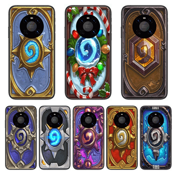 Frosting Hearthstone Phone Case For Huawei mate 30 10 20 40 Lite Smart Z Pro Black Etui 3D Coque Painting Hoesjes case image