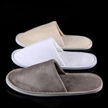 1 par loafer confortável quarto de hóspedes chinelos quatro estações sapatos chinelos de hotel flip flop não-deslizamento sapatos de casamento
