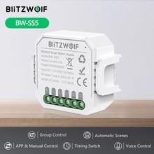 BlitzWolf BW-SS5 1 Gang/2 Gang Two Way 10A 2300W WIFI Smart Switch Module APP Remote Controller Group Control Timer Smart Socket Smart Google Home Homekit pour Zigbee Switch Switchbot