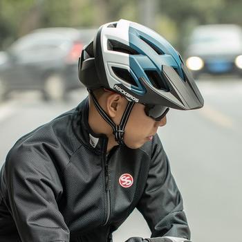 ROCKBROS MTB kaski rowerowe kask rowerowy Ultralight integralnie formowane kaski rowerowe rower elektryczny jazda Helme czapka rowerowa tanie i dobre opinie (Dorośli) mężczyzn CN (pochodzenie) 365g 8-15 Formowane integralnie kask MTB Bike Helmet Cycling Helmet Ultralight Sunshade Hat