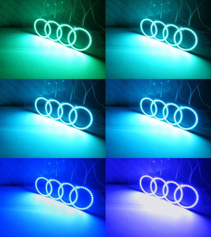 Image 5 - RF remote Bluetooth APP Multi Color RGB led angel eyes kit For  Volkswagen VW Passat Facelift B5.5 2001 2002 2003 2004 2005ring  closerring wholesalering burner