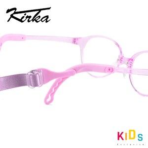 Image 5 - Kirka crianças óculos quadro flexível roxo cor óculos de olho moda crianças quadros para meninas óculos ópticos