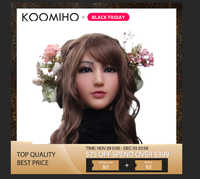KOOMIHO Weiche Silikon Realistische Weibliche Kopf Maske Handgemachte Make-Up Maske Claire Göttin Top maskerade Cosplay Maske Transgender 1G