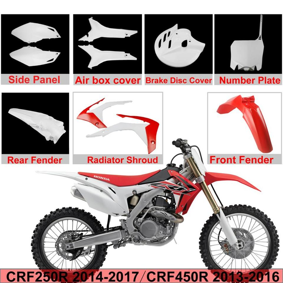 Fairing ABS Plastic Side Cover Front Fender Rear Fender Side Covers Fairings Set for HONDA CRF250R CRF450R