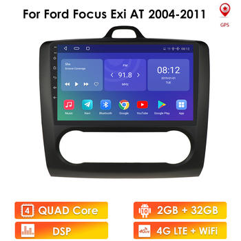Android 10 Car Radio GPS for Ford Focus Exi AT Mk2 2004-2011 2006 2008 Multimedia Stereo Video Player Navigation 2 Din Head Unit image