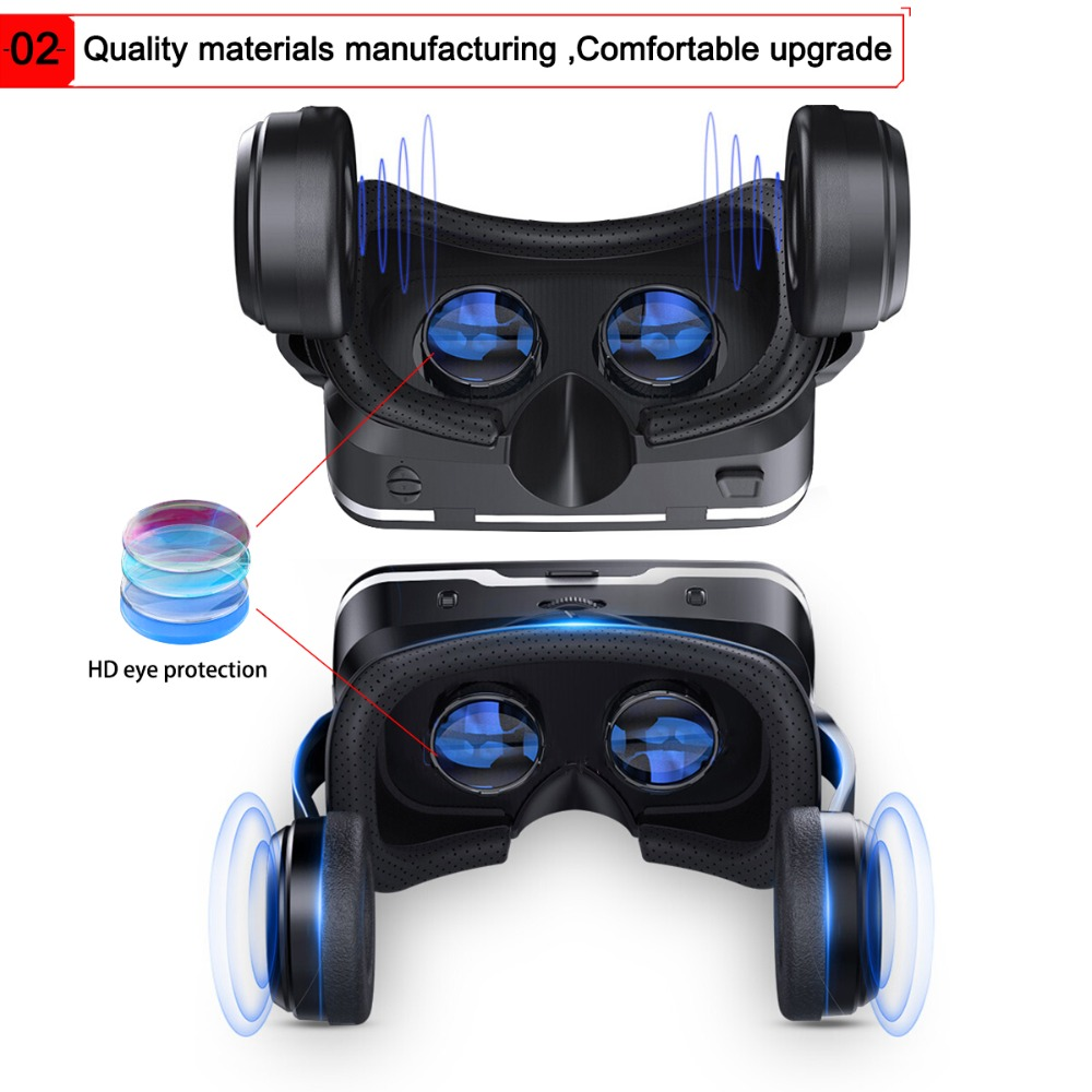 VR 3D Google Cardboard VR shinecon Pro Version VR Virtual Reality 3D Glasses Smart Bluetooth Wireless Remote Control Gamepad 1