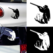 Car Decals Stickers Hunter Hunting Car Sticker Reflective Vehicle Surfing Board Decor Decal Car styling car decoration Accessor