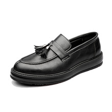 Quality Men's Elegant Tassel Loafers Classic Casual Business Leather Shoes for Men Fashion Patent Leather Platform Men Loafers