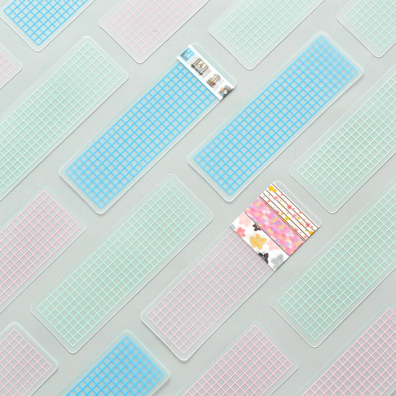 10pcs/lot DIY Portable PVC Board Masking Tape Washi Tape Sheet Subpackage Plate Tape Package Planner Tool