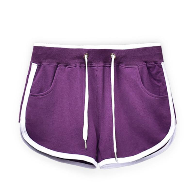 Casual Elastic Drawstring Patchwork Chamber Skinny Shorts Women Pule Size Indoor Slim Hot Summer Shorts Female Women's Clothing