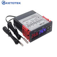 STC-3008 kt99 dupla digital controlador de temperatura dois relé saída 12 v 24 v 220 v termorregulador termostato com aquecedor térmico