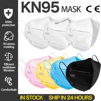 Maska FFP2 maseczki do twarzy KN95 filtr maska wentylacja FFP2mask KN95 maski maska przeciwpyłowa maska ochronna 20 50 100 sztuk tanie i dobre opinie Chin kontynentalnych GB2626-2006
