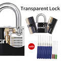 3-Type Lockpick Set,View Cutaway Pin Padlock with Black Cover,Lock Picking Set Training for Locksmith or Advancer,Locksmith Tool