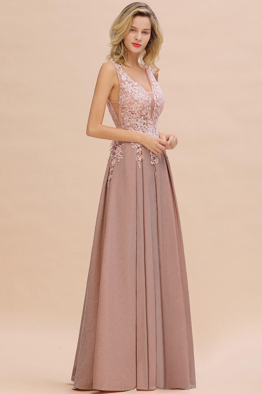 2020 nouveautés longues robes de soirée en dentelle col en v robe à fermeture éclair robes formelles vraies Photos Vestidos Elegantes - 2