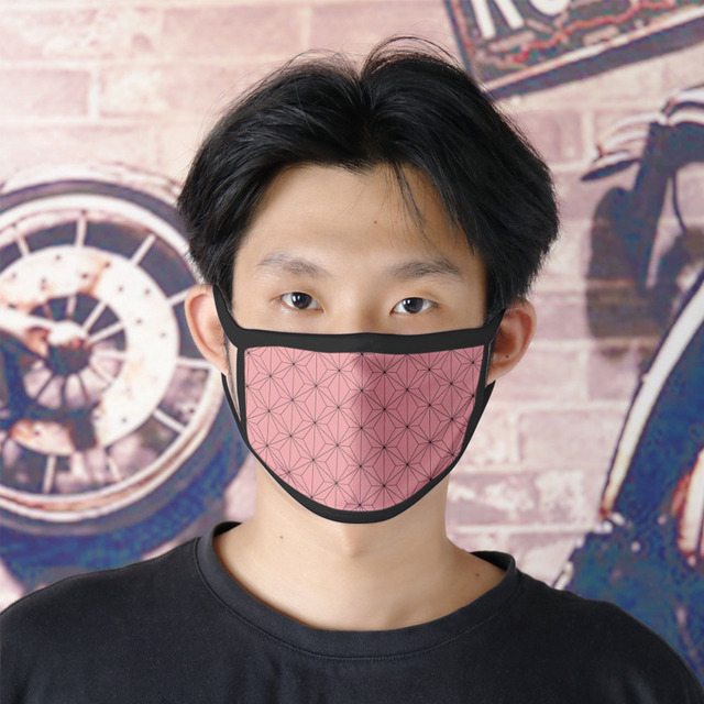 Demon slayer kimetsu no yaiba mask  women men half face masks sports breathable props