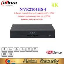 Dahua 4 canale compatto 1U WizSense rete videoregistratore 4K nvr dvr NVR2104HS-I rilevamento e riconoscimento del viso H.264/.H265