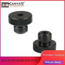 """Camvate 1/4 """" 20 Female Naar 5/8"""" 27 Mannelijke Microfoon Schroef 2 Stuks C1959"""