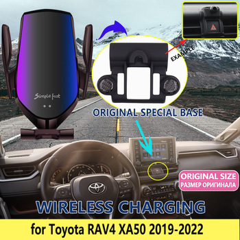Car Mobile Phone Holder for Toyota RAV4 XA50 RAV 4 2019 2020 GPS Stand Bracket Rotatable Support Accessories for iPhone Samsung image