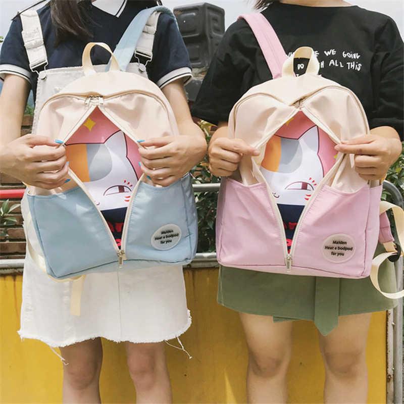 Natsume Yuujinchou школьный мультфильм аниме кот рюкзак для девочек путешествия ноутбук сумка на плечо Подростковая сумка Рождественские новые подарки
