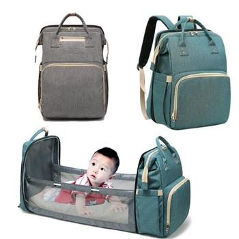 Mommy Diaper Bag Newborn Baby Bed Backpack Crib Bassinet Travel Convenience Free Send Hooks With Pad