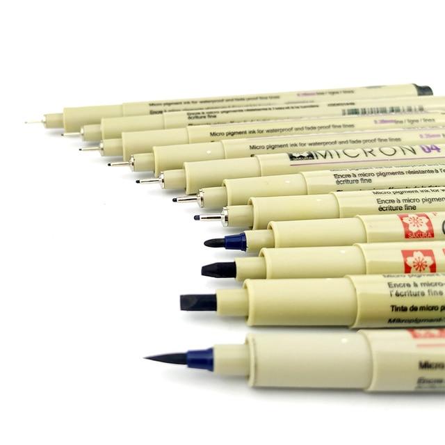 Markers Set Pigma Micron Pen Soft Brush Drawing Painting Waterproof Pen 005 01 02 03 04 05 08 1.0 2.0 3.0 Brush Art Markers 1