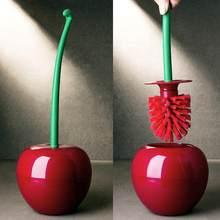 Hot Creatieve Mooie Cherry Vorm Toilet Borstel Toiletborstel & Houder Set Mooie Cherry Vorm Wc Borstel